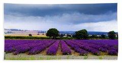 Hampshire Lavender Field Bath Towel