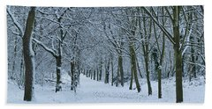 Hampstead Heath In Winter, North Bath Towel