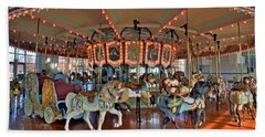 Hampton Carousel 2 Hand Towel by Jerry Gammon