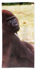 Hand Towel featuring the photograph Handsome Gorilla by Belinda Lee