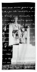 Handwritten Gettysburg Address Hand Towel