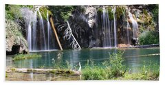 Hanging Lake Hand Towel by Eric Glaser