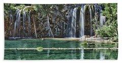 Hanging Lake Bath Towel by Priscilla Burgers