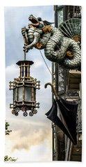 Bath Towel featuring the photograph Hanging Lantern by Sotiris Filippou