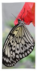 Bath Towel featuring the photograph Hanging On #2 by Judy Whitton