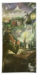 Hans Christian Andersen Hand Towel by Anne Grahame Johnstone