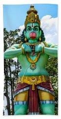 Hanuman Statue Bath Towel