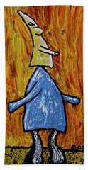 Bath Towel featuring the painting Happiness 12-004 by Mario Perron