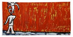 Bath Towel featuring the painting Happiness 12-007 by Mario Perron