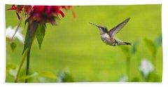 Happiness Hummingbird Garden Bath Towel