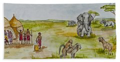 Happy Africa Hand Towel