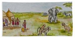 Happy Africa Bath Towel