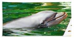 Happy Dolphin Hand Towel