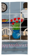 Hand Towel featuring the digital art Happy Homemaker by Christine Fournier