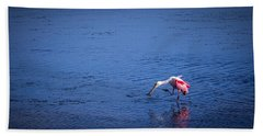 Happy Spoonbill Hand Towel by Marvin Spates