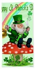 Happy St. Patrick's Day Hand Towel by Glenn Holbrook