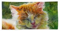 Happy Sunbathing 2 Hand Towel by Hailey E Herrera
