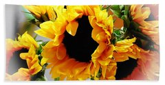 Happy Sunflowers Hand Towel