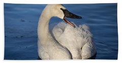 Hand Towel featuring the photograph Happy Swan by Patti Deters