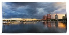 Harbor At West Palm Beach Hand Towel