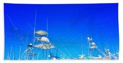 Harbor Happy Hour - Boat Art By Sharon Cummings Bath Towel