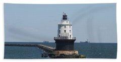 Harbor Of Refuge Lighthouse Bath Towel