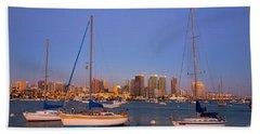 Harbor Sailboats Hand Towel