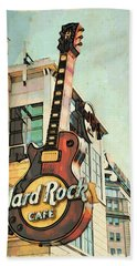 Hard Rock Guitar Hand Towel