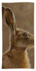 Hare Portrait I Bath Towel