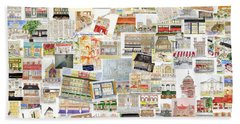 Harlem Collage Of Old And New Hand Towel by AFineLyne