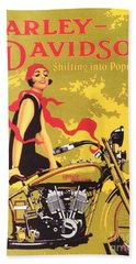 Harley Davidson 1927 Poster Bath Towel