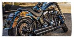 Harley Davidson Hand Towel by Steve Harrington