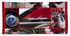 Harley Davidson Ultra Classic Trike Bath Towel