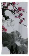 Harmony And Beauty Hand Towel by Yufeng Wang