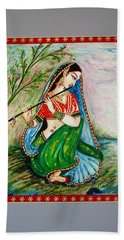 Hand Towel featuring the painting Harmony by Harsh Malik
