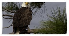 Harriet The Bald Eagle Bath Towel