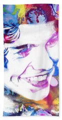 Harry Styles - One Direction Bath Towel by Doc Braham
