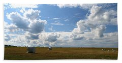 Bath Towel featuring the photograph Harvest Blue  by Neal Eslinger