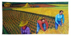 Hand Towel featuring the painting Harvest Season by Lorna Maza