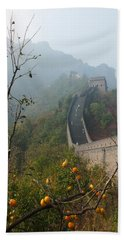 Harvest Time At The Great Wall Of China Bath Towel