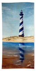 Hatteras Lighthouse Bath Towel by Lee Piper