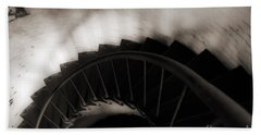 Bath Towel featuring the photograph Hatteras Staircase by Angela DeFrias