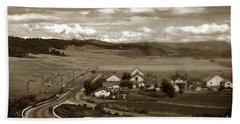 Hatton Ranch Carmel Valley From Highway One California  1940 Bath Towel