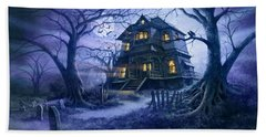 Haunted House Variant 1 Bath Towel