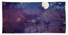 Haunted Moon Hand Towel by Roselynne Broussard