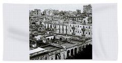Havana City Hand Towel by Shaun Higson