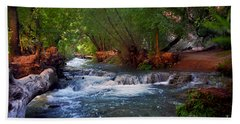 Havasu Creek Hand Towel by Kathy McClure