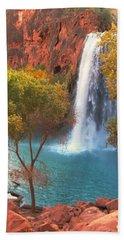 Bath Towel featuring the photograph Havasu Falls by Alan Socolik