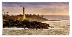 Hawaiian Lighthouse Bath Towel