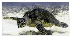 Hawksbill Caribbean Sea Turtle Hand Towel